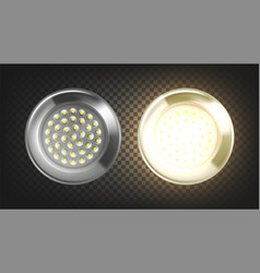 Electrical lighting led light lamp panel vector