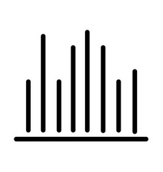Equalizer or frequency audio sound line style icon vector