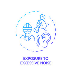 Exposure to excessive noise concept icon vector