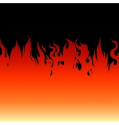 Fire flames on a black background vector
