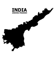 Flat map andhra pradesh state with vector