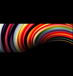 fluid color rainbow style wave abstract background vector image