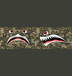 Flying tiger shark for t-shirt design vector