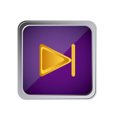 forward button icon with background purple vector image