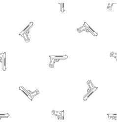 gangster pistol pattern seamless vector image