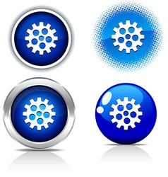 Gear buttons vector