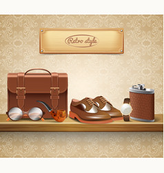 Gentleman accessories realistic vector