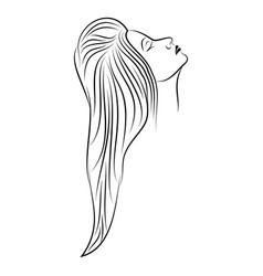 girl 8 vector image