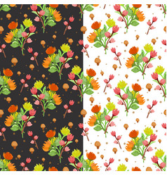 gorgeous flower bouquet seamless pattern vector image