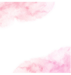 Hand painted pink watercolor border texture vector