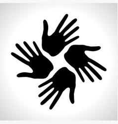 hand print icon logo element vector image