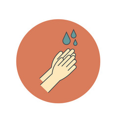 hand wash flat icon clean hands flat icon vector image