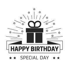 happy birthday and special day greeting card with vector image