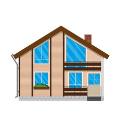 House - colourful home icon collection private vector
