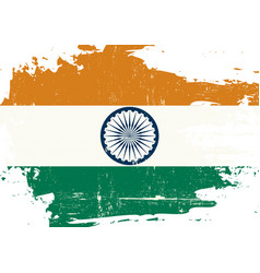 indian scratched flag vector image
