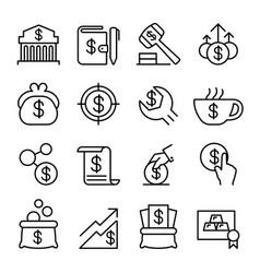 Investment financial saving money economic icon vector