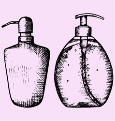 Liquid soap vector
