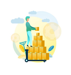 loading goods shipment client vector image