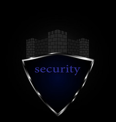 logo for security safety protection vector image