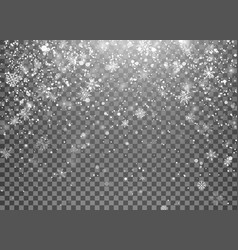 magic holiday snowfall template christmas snow vector image