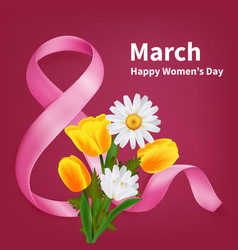 March 8th realistic background vector