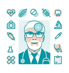 Medical doctor icons vector