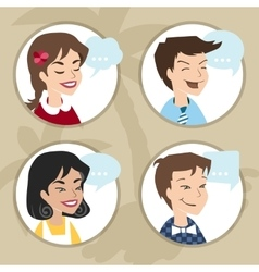 Men and women user icon vector image