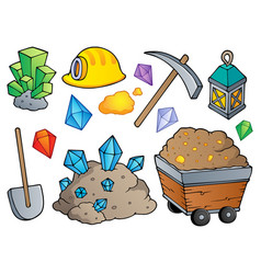 mining theme collection 1 vector image