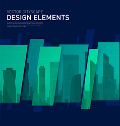 modern abstract geometry background for investment vector image