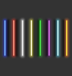 Neon light brushes with shadows fully adjustable vector
