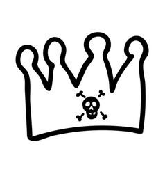 Punk rock crown lineart vector