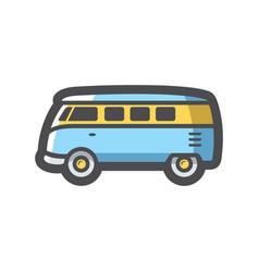 retro travel van icon cartoon vector image