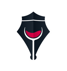 royal wine pen concept vector image