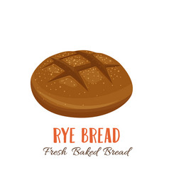 Rye bread icon vector