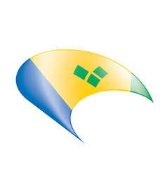 Saint vincent and the grenadines flag vector
