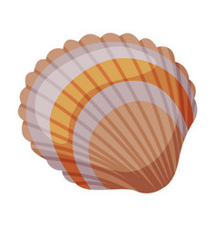 Seashell as travel and tourism attribute vector
