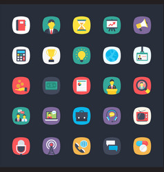 Set of app flat icons vector