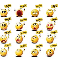 Set of emoticons vector