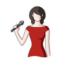 singerprofessions single icon in cartoon style vector image
