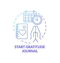 Start gratitude journal concept icon vector