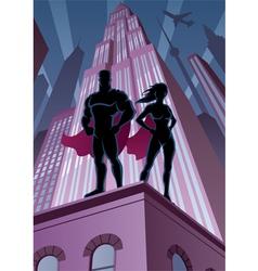 Superhero Couple 5 vector image vector image