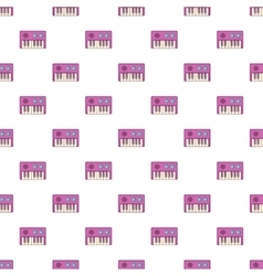 Synthesizer pattern cartoon style vector image