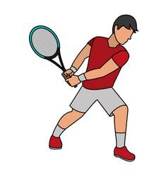tennis player design vector image