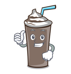thumbs up ice chocolate character cartoon vector image