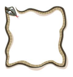 Wavy snake as a border vector