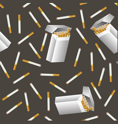 cigarette seamless pattern vector image vector image