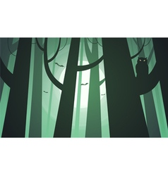 Creepy forest vector