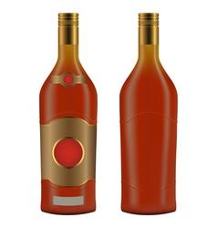 Cuban rum bottle vector image vector image