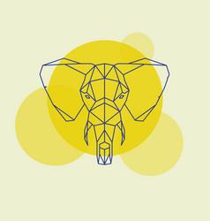 elephant head geometric lines silhouette vector image