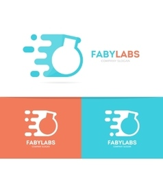 fast bulb logo combination Speed lab vector image vector image